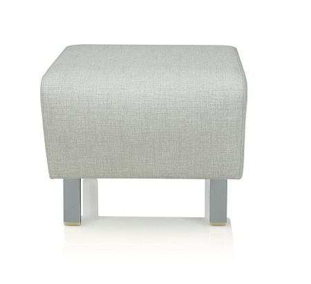 SolticeMetal LoungeOttoman StarlightSilver front