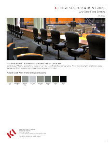 Jury Base Seating Finish Specification Guide