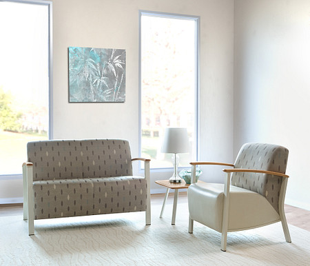 SolticeMetal LoungeLoveseatChair OccTable room