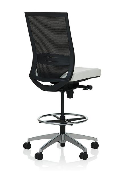 Sift task stool armless uph back