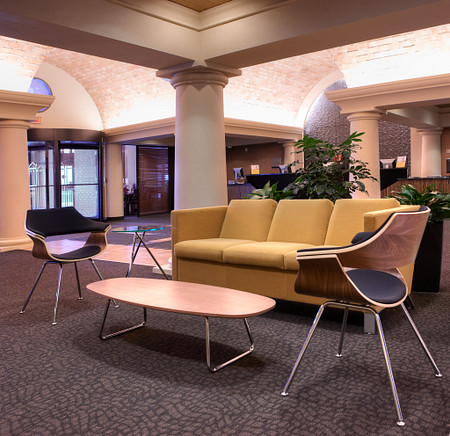 Itoki chairs, Grand Salon sofa, Lyra table in lobby