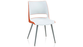 Doni Guest Chair | Tapered Steel Leg with 2-Tone Shell (Poly)
