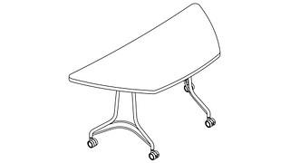 Enlite Tables | Half Hex Top