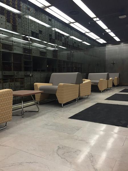 Rowan University Camden Bank Building MyWay Lounge  Occasional Table