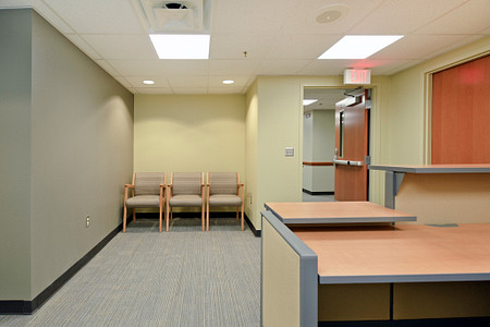 united regional soltice guest system 3000 reception waiting lobby  healthcare