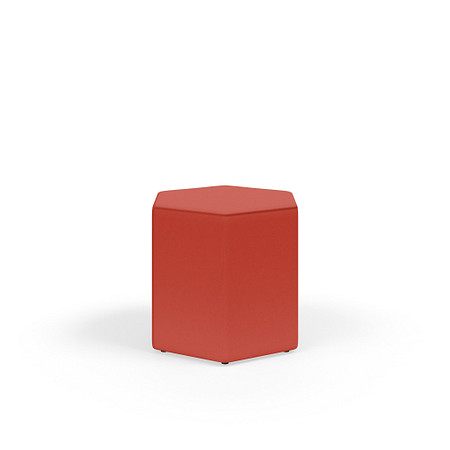 MyPlace 18InchHexagon Ottoman Glides FrontAngle