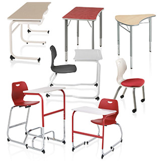 Intellect Wave Classroom Furniture Revit Symbols