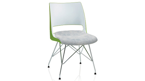Wire Tower with 2-Tone Shell (Upholstered Seat)
