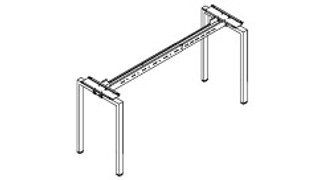 Connection Zone Benching   Cafe-Height Single-Sided Standalone or Starter Metal Frame