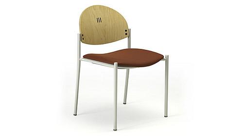 round 4 leg wood back uph seat