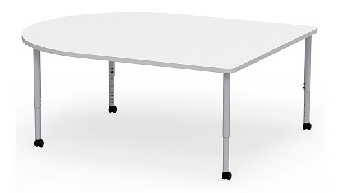 D-Shaped, Sit Height Adjustable