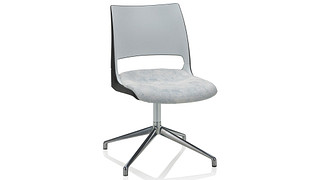 Doni Guest Chair | Fourstar Swivel with 2-Tone Shell (Upholstered Seat)