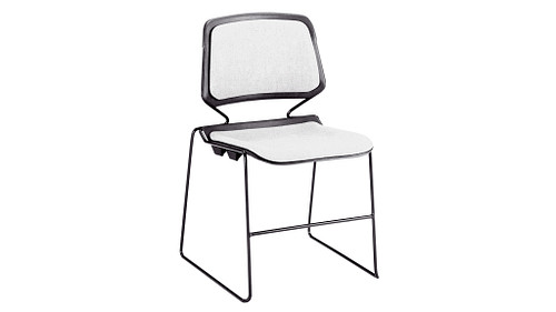 Stack Chair with Upholstered Seat and Back