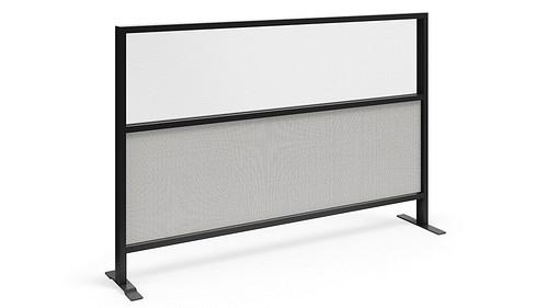 Segmented Flex Screen w/Fabric Lower, Fluted Polycarbonate Upper Core