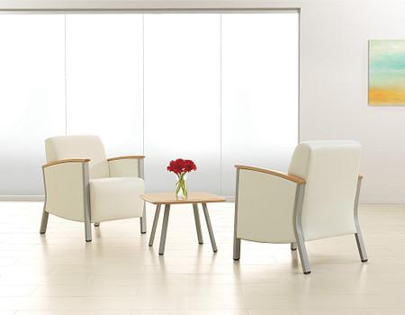 SolticeMetal LoungeChairsOccTable room