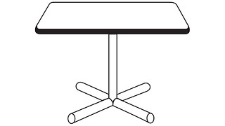 Barron Tables | Square Top (Fixed/Folding Leg or Flip Top)