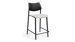 Katera Cafe Stool | Upholstered Seat and Poly Back