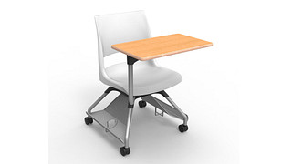Learn2 Seating | Doni Solid Shell (Poly) with Worksurface