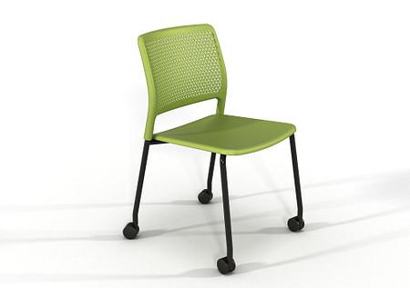 Grafton-4-leg-castors-Grass-Green-Black-frame-01