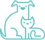 Icon with dog and cat