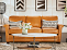 Living room with Dixie Sofa, Nouveau Recliner, East Park Rectangular End Table, Hidden Treasures Root Ball Table