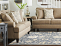 Living room with Aberdeen Sofa, Aberdeen Loveseat and Coronet Storage Ottoman