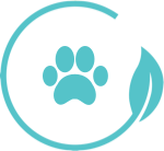 Icon with paw print in iClean logo