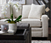 Closeup of Meyer Sofa and Leo Ottoman