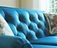Closeup of Aberdeen Sofa tufted back and accent pillows