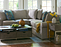 Living room with Collins Sectional and Lakeland Rectangular Coffee Table