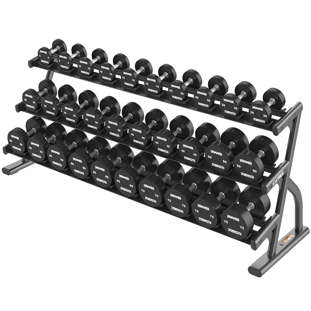 Ion Series 3-Tier Long Saddle Dumbbell Rack