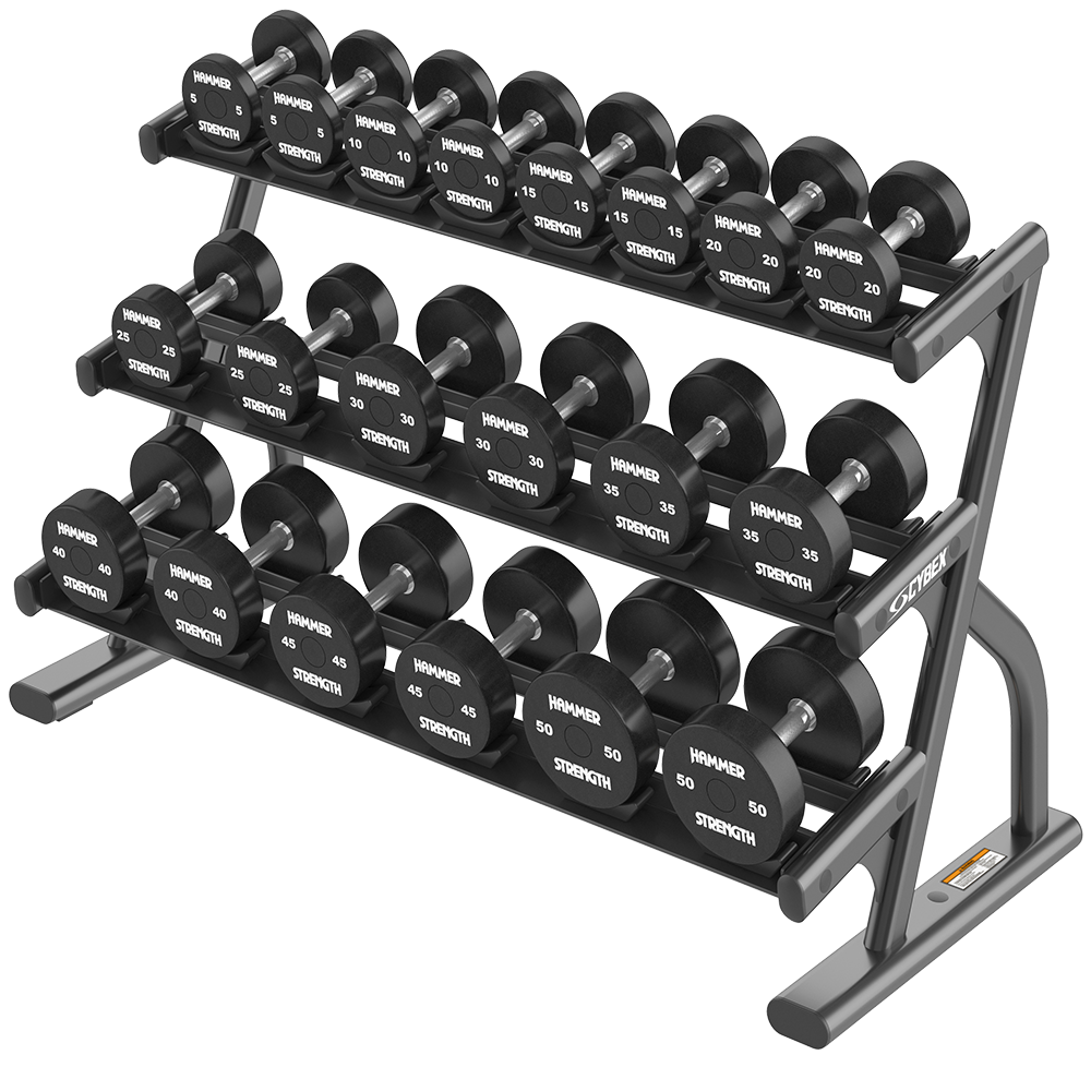 Ion Series 3-Tier Short Saddle Dumbbell Rack