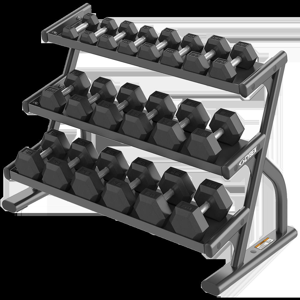 Трехъярусная стойка для шестигранных гантелей серии Ion