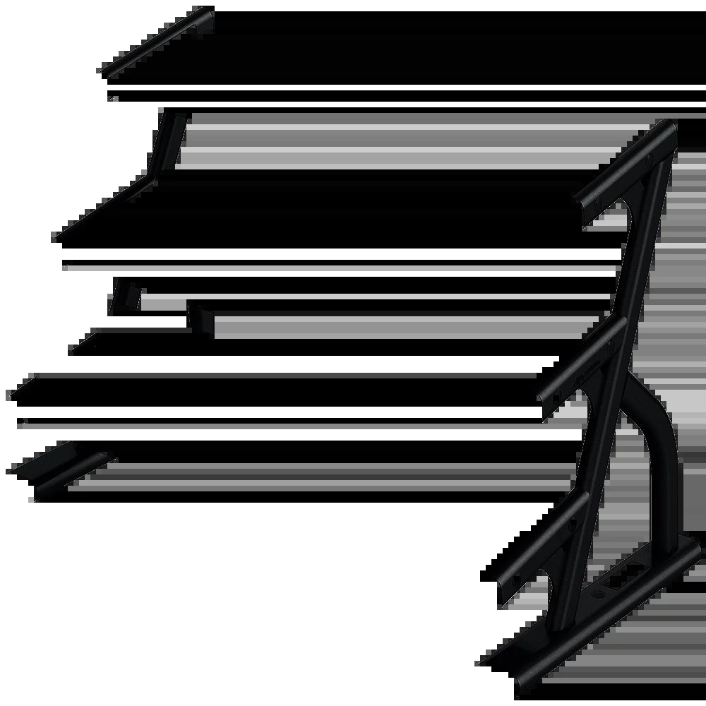 LF-OS-3-tier-hex-dumbbell-rack Frame