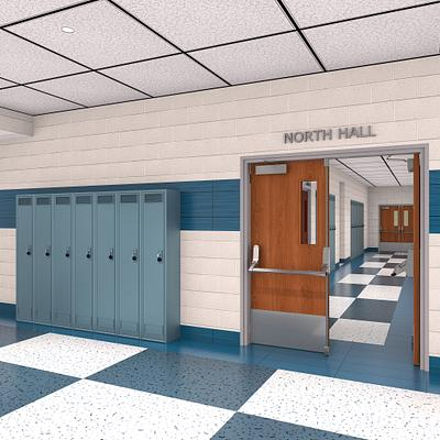 High Impact Fire-Rated School Corridor Doors