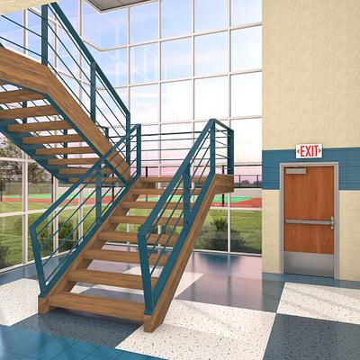 Doors for School Stairwells