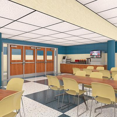 High Impact Doors for School Cafeteria