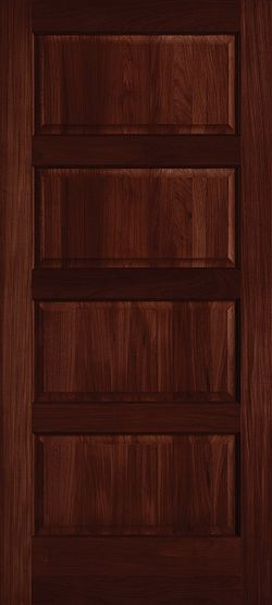 Mahogany Craftsman Modern Farmhouse Exterior Le Chateau Torrefied Wood Door by Masonite