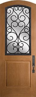 Barrington 1 Panel Fiberglass Door