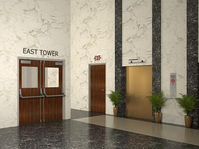 Interior office lobby and corridor doors