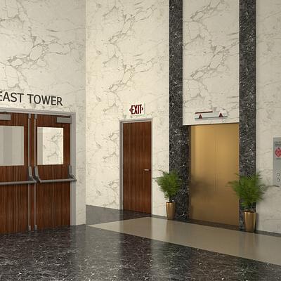 Office Lobby and Corridor