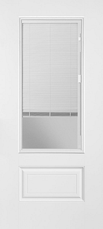 Glass Door with Internal Mini Blinds