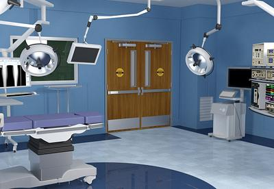 Medical exam room with Aspiro high impact heavy duty hygienic door