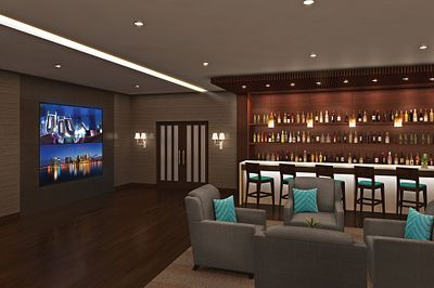 Masonite Doors in a hotel bar lounge area