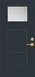 3 Panel Top Lite Steel Door