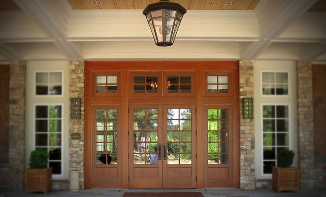 Exterior Stile and Rail double door with side lites installation