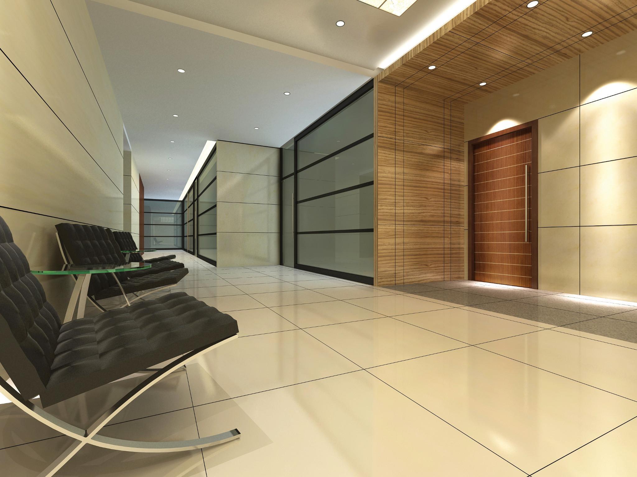 Masonite Aspiro Wood Veneer doors in an office lobby