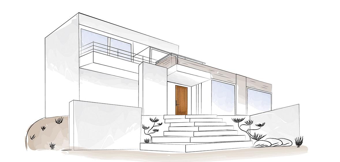 Modern Rustic Luxury home with wood exterior door