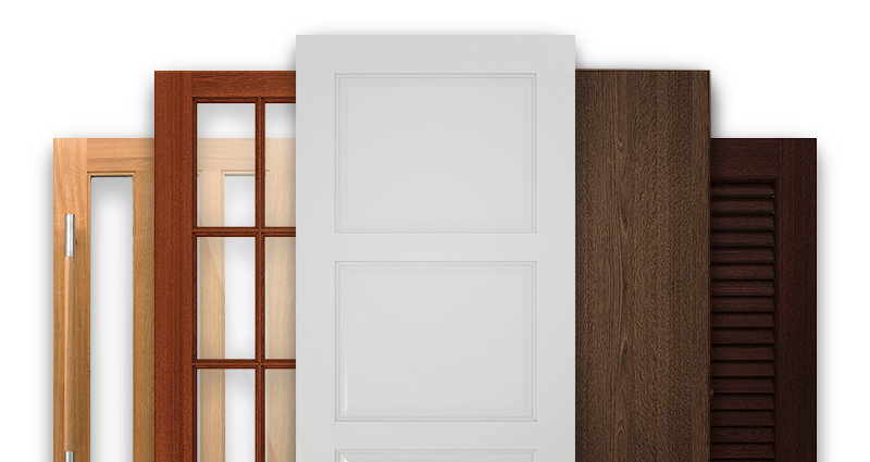 A showcase of 5 different Masonite doors for hospitality industries