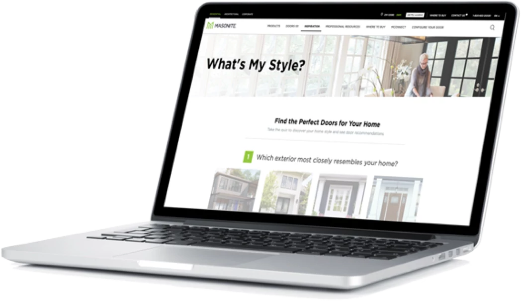 Style Quiz Laptop on Shop by Style Interior Page